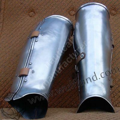 Larp Armor greaves Medieval Knight Crusader Spartan Steel Armour Reenactment Rep