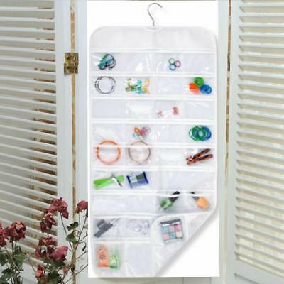 Hanging Jewellery Organiser Double Sided Storage Bag 72 Pocket SI