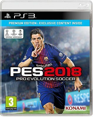PS3 Game Pes 2018 Premium Edition - pro Evolution Soccer 18 Football New
