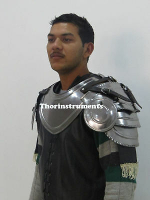 Medieval Gothic Gorget Set with Pauldrons Shoulder Guard Fully wearable Costume