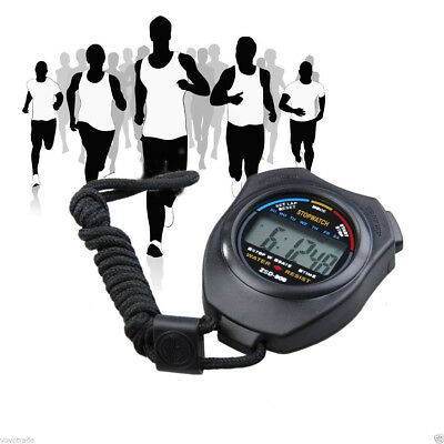 Digital Professional Handheld LCD Chronograph Sports Stopwatch Timer Stop Watch