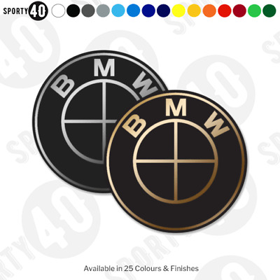 BMW Logo - 2 x Vinyl Decal - Series, X1, X3, X5, 4 Series BMW M3 M5 M1 323