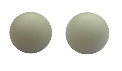 2 X Large White Roulette Balls - 20Mm