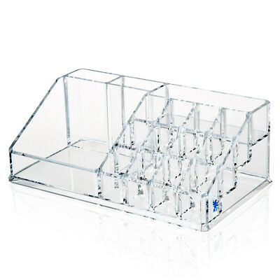 Clear Acrylic Makeup Organiser Cosmetic Lipstick Holder Display Stand