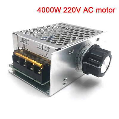 4000W 220V AC SCR Motor Speed Controller Module Voltage Regulator Dimmer New UK