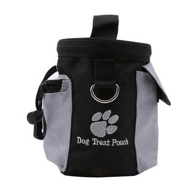 Pet Dog Cat Training Treat Snack Storage Holder Dispenser With Hook Bag Pouch FA
