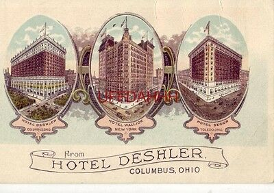 HOTEL DESHLER, WALLICK (New York) AND SECOR from HOTEL DESHLER, COLUMBUS, OH