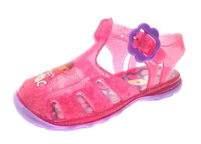 Girls Pink Doc McStuffins Glitter Jelly Shoes Beach Sandals Jellies Size UK 3-9