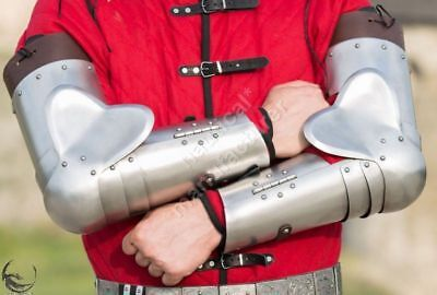 Medieval Western arms Armor- Combat Knight- Steel Harness Armor arms Reenactment