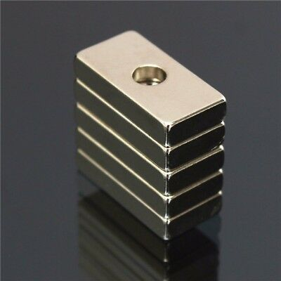 5pcs 20x10x4mm N35 Strong Quader Magnete Rare Earth Neodym Magnete With 4mm H