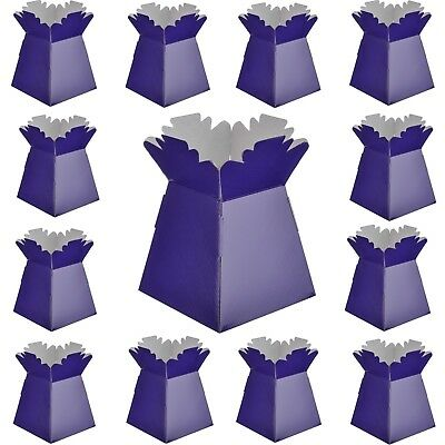 Purple - Living Vases Florist Bouquet Box Flower Sweet Boxes - Choose Quantity