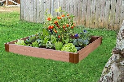 Wooden Raised Garden Bed Planter Kit Expandable Herbs Flowers Vegetable Outdoor