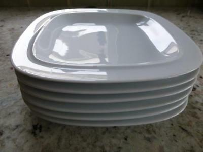 DENBY WHITE SQUARE SQUARES Side Starter Dessert Plate. size 7.5 inches x 2