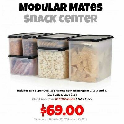 Tupperware Modular Mates Super Ovals/rectangular 6 PC set
