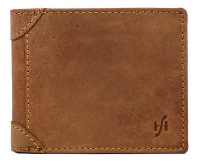 StarHide Designer RFID Blocking Trifold Wallet For Men | Genuine Distressed