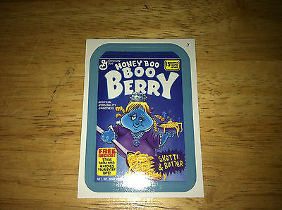 Wacky Packages Ans11 11 Blue Border Sticker Honey Boo Boo Berry Cereal Box Real