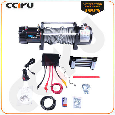 Fit 1989-2019 Jeep 9500lb Electric Winch 8.5mm × 24m Steel Rope Remote Control