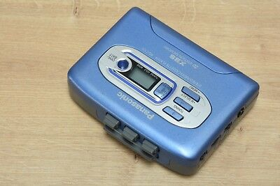 BLUE Panasonic RQ-C10V Radio Stereo Cassette Player-XBS Walkman
