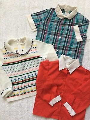 Vintage *Size 4T* Girls 8pc Lot Sears Little Star Dress Quilted Robe Nightgown