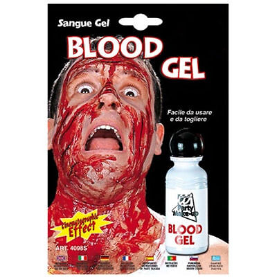 Sangue Finto Gel 20 Ml Halloween Carnevale Costume Travestimento Festa Feste