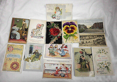 Vintage Antique Assorted Post Card Lot of 13 *10 15