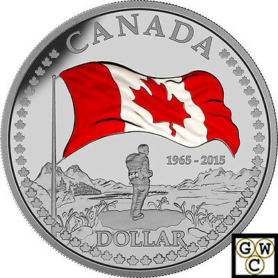 2015Prf Set of Coins with Prf Color 50th Ann of The Canada Flag.9999(NT)(16939)