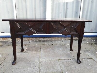 Early 18th Century Oak Side Table made in Elizabethan style with Pad Feet