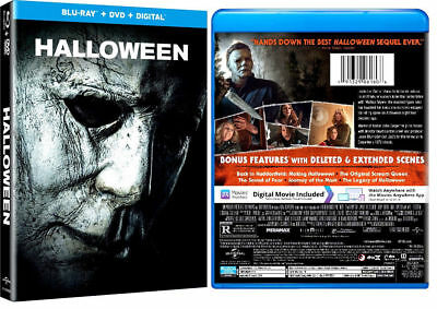 Halloween (2018) (Blu-ray/DVD, 2019, 2-Disc Set) -NEW FREE SHIPPING