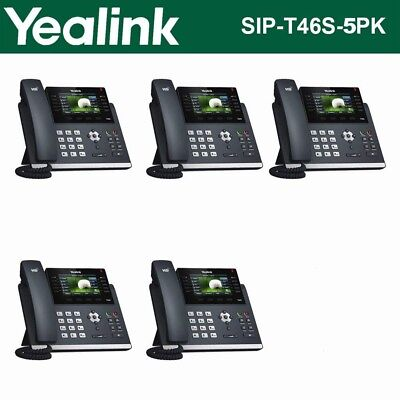 (QTY - 5 Pack) Yealink SIP-T46S Gigabit VoIP IP Phone - NEW IN BOX
