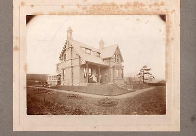 19th Century Carte de Visite CDV Cabinet Photograph Victorian House & Family