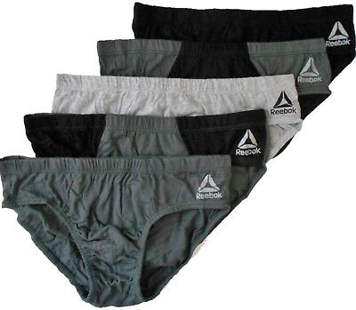 REEBOK MEN/'S SET PACK 5 UNDERWEAR BRIEF LOW RISE COTTON W RED GREY BLACK