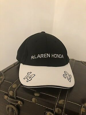 F1 Baseball Cap With Sewn Signatures Jenson Button & Fernando Alonso Brand New