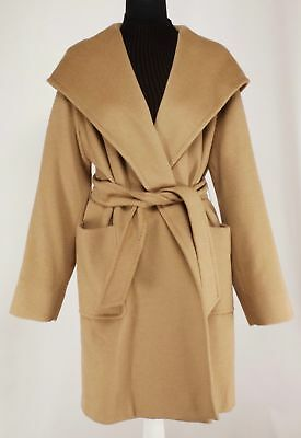 8174e861c39d1 Max Mara Rialto 100% Camel Hair Hooded Wrap Coat NWT  2650.00 Made in Italy  16
