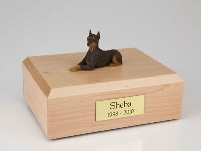 Red Doberman Pet Funeral Cremation Urn Avail. in 3 Different Colors & 4 Sizes
