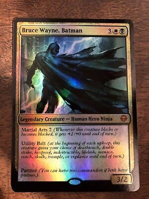 Bruce Wayne Batman Marvel Magic The Gathering MTG card Planeswalker Stan Lee