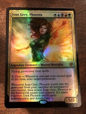 Jean Grey Phoenix Marvel Magic The Gathering MTG card Planeswalker Stan Lee