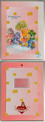 Care Bears Italian school exercise book 1986 group with babies