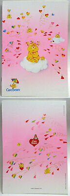 Care Bears Italian school exercise book 1985 bursting hearts 11-in