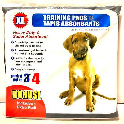 "XL Puppy Training Pads 26""x30"" Pack of 4 *BRAND NEW*"