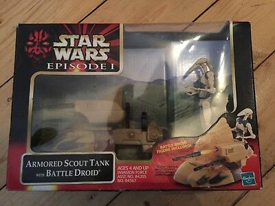 Star Wars EPISODE 1 ARMORED SCOUT TANK AND BATTLE DROID
