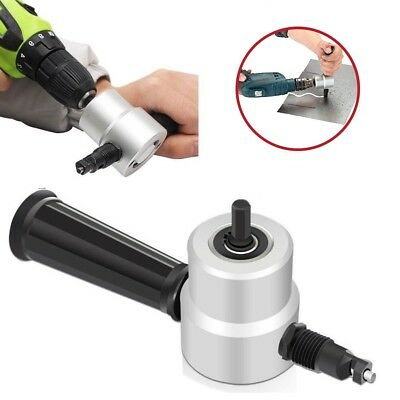 Nibble Metal Cutting Double Head Nibbler Saw Sheet Cutter Drill Bits Attachment