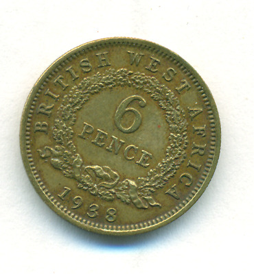 1938 South Africa Six 6 Pence silver coin better grade
