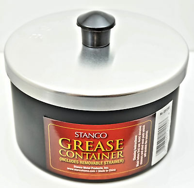 Stanco, GS-1200, 40 oz Grease Container/Strainer