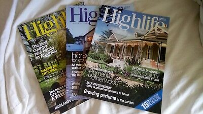 Highlife Magazines, Southern Highlands Nsw, 3X Editions. 2011. Nice Condition!