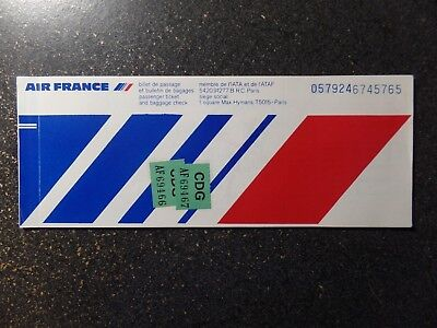 Air France paper ticket  Rare  1978  FREE Shipping to USA