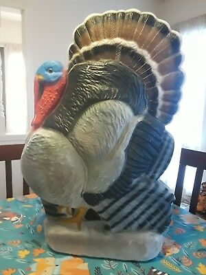 "Vtg Thanksgiving 25"" Lighted Blow Mold TOM Turkey Yard Decor Don Featherstone"