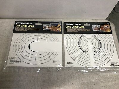 Fiskars Circle AND Oval Cutter Guide 9388 & 9389 NEW Scrapbook (P)
