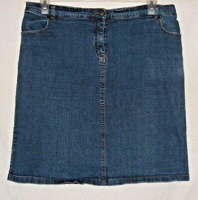 New Additions Maternity Skirt, Women's Size Large, Stretch Denim