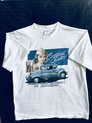 """Vintage Pepsi Cola T- Shirt """"classic"""" Featuring A Car And Soda Jerk Adult  Sz Xl"""