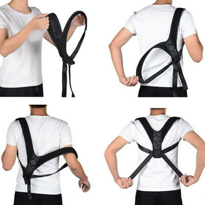 Adjustable Therapy Posture Corrector Clavicle Support Back Brace Shoulde QEL
